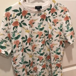 small forever 21 men's floral t-shirt